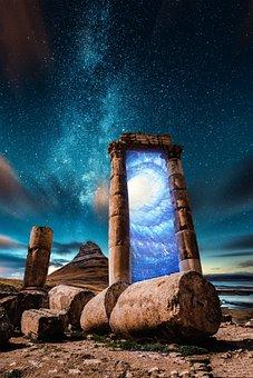 Portal, Magical, Mystical, Sky, Stars