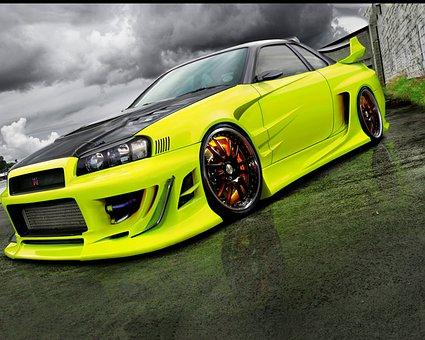 Skyline Gtr, Nissan, Car, Speed