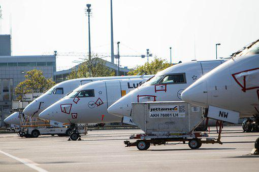 Lufthansa, Aircraft, Corona Crisis, Airport, Flying
