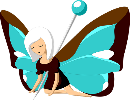 Butterfly, Pin, Suffering, Dead, Girl, Anthropomorphic