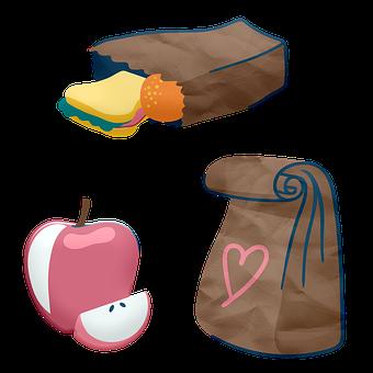School Lunch Bag, Lunch Bag, Sandwich