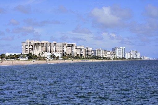 Hotels, Luxury, Beach, Ocean, Panorama, Blue, Water