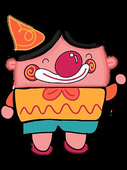 Clown, Cartoon, Character, Painting, Boca Chain Balloon