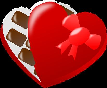 Pralines, Heart, Love, Box, Sweet, Present, Ribbon