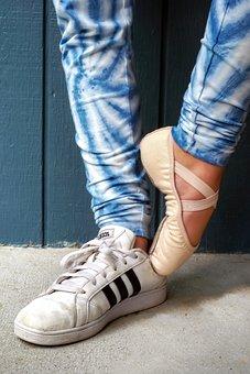 Ballet, Slipper, Ballet Slipper, Pink, Dancer, Sneaker