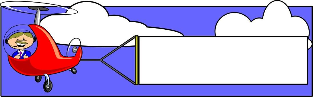 Advertise, Air, Art, Banner, Blank, Blue