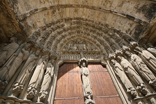 Chartres, Cathedral, Portal, France, Architecture