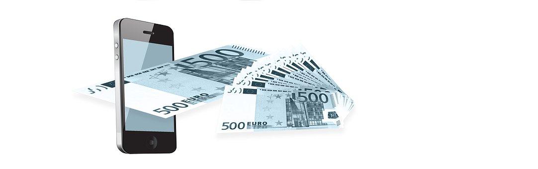 Mobile Phone, Euro, Money, Finance