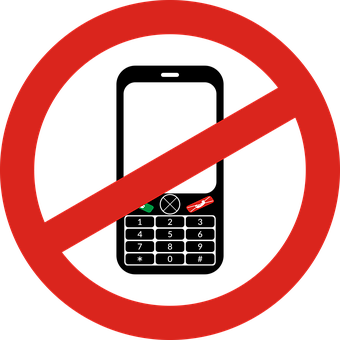 Sign, The Prohibition Of, Phone, Banned, Cell