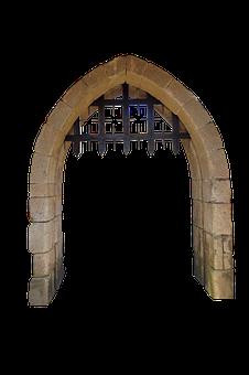 Gate, Castle, Portal, Medieval