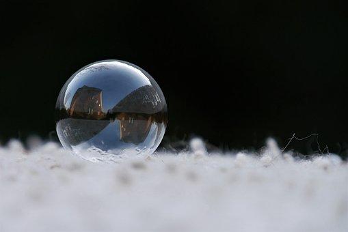 Soap Bubble, Glass Ball, Winter, Frost, Snow, Ball