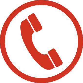 Telephone, Sign, Symbol, Icon, Red, Phone, Isolated