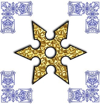 Golden Star, Spinner, Snowflakes, Decoration, Template