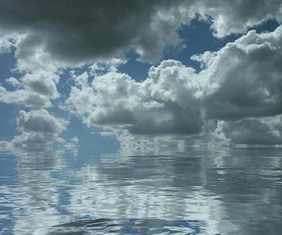 Clouds, Water, Sky, Ocean, Sea