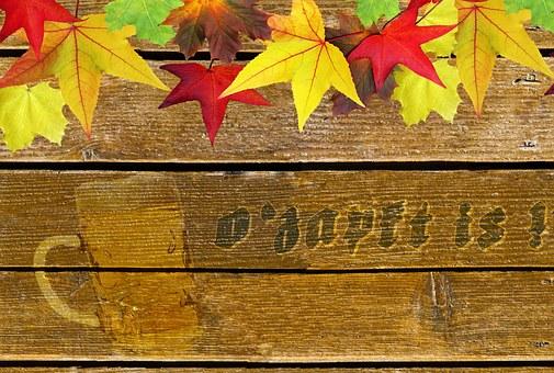 Oktoberfest, Rear Base, Wood, Autumn, Bulletin Board