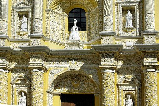 Guatemala, Antigua, The Merced, Facade, Church