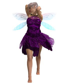 Purple Fae, Woman, Pixie, Fantasy, Fairytale, Magical