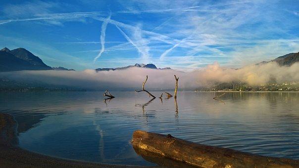 Sarnensee, Lake, Sarnen, Switzerland, Landscape, Fog