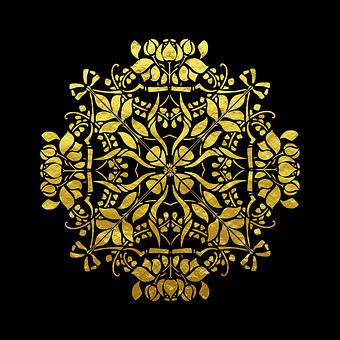 Goldpattern, Gold, Pattern, Frame, Golden, Yellow