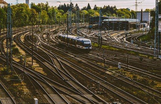Gleise, Train, Rail Traffic, Railway, Railroad Tracks