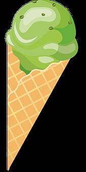 Ice, Ice Cream, Waffle, Dessert, Summer, Sweet