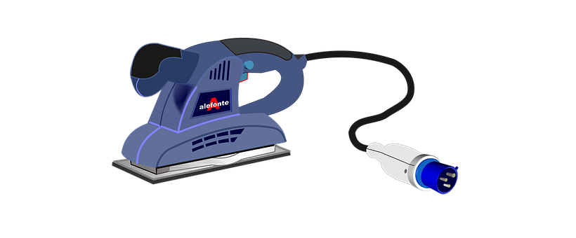 Sander, Orbital Sander, Vector, Work, Drawing, Graphics