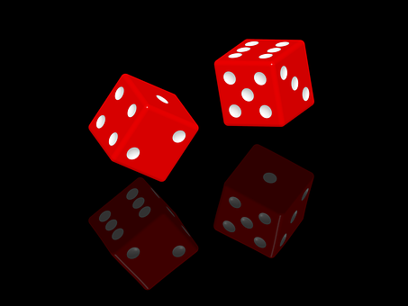 Dice, Gambling, Chance, Cube, Red, Fall