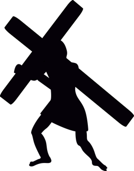 Graphic, Jesus Silhouette, Stations Of The Cross, Lent