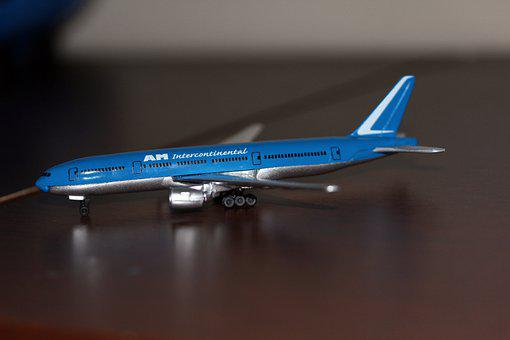 Plane, 777, 777-200, Model, Airport, Airplane, Aircraft