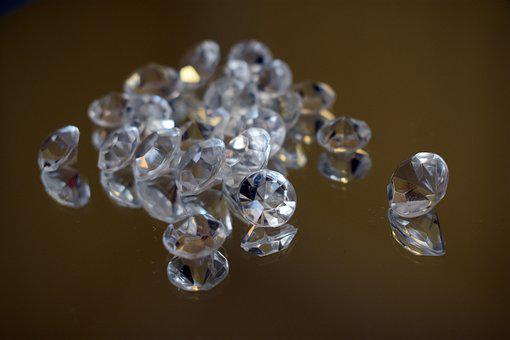 Crystals, Glass, Balls, Glow, Glossy, Rearview Mirror