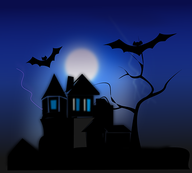 House, Halloween, Spooky, Scary, Haunted, Bats, Ghosts