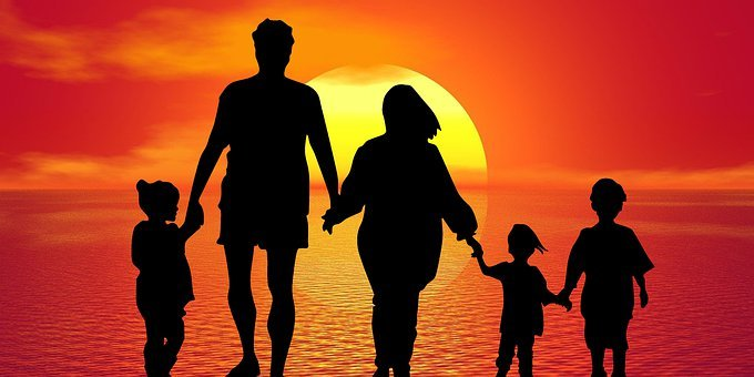 Family, People, Mother, Father, Children, Kid, Walking