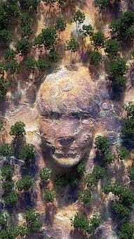 Painting, Imagination, Fantasy, Man, Stone, Tree