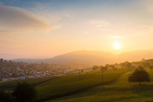 Sunrise, Hometown, Rural, Outdoors