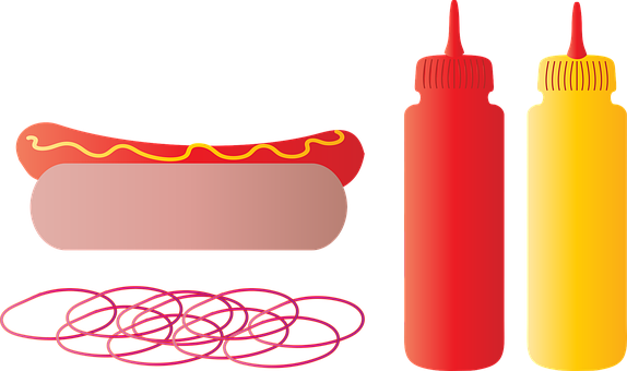 Summer Foods, Onions, Stitched, Fabric, Hot Dog