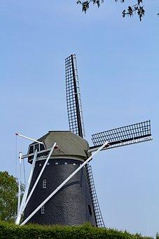 Mill, Limburg, Trintelen, Building, Air, Wicks