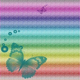 Digital Paper, Textures, Rainbow, Wild