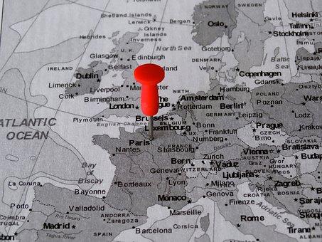 Atlas, Map, Paris, Pin, Meeting Point, Destination