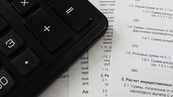 Taxes, Finances, Bank, Calculator, Declaration