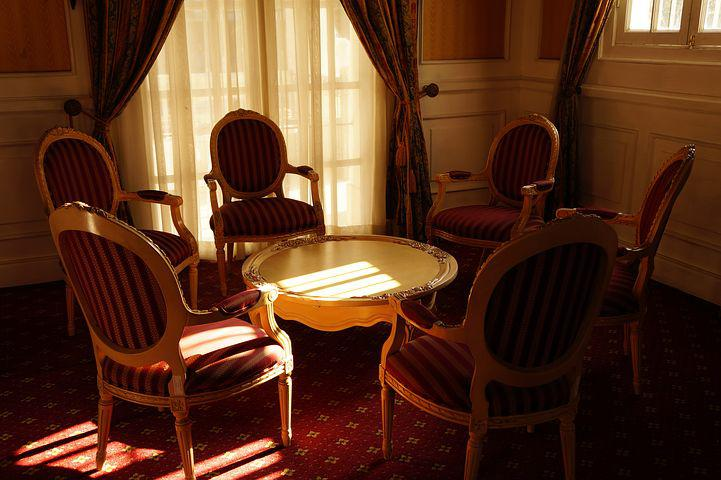 Chairs, Table, El Salvador, Palacio Nacional, Tea