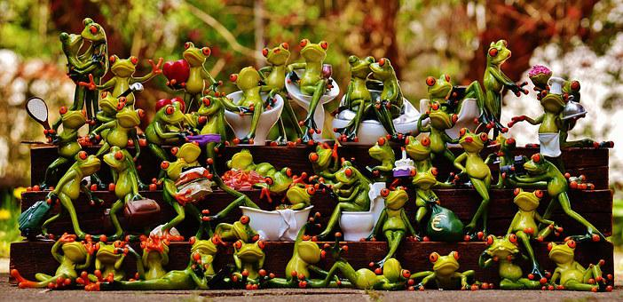 Frogs, Many, Frog Assembly, Cute, Collection, Mass