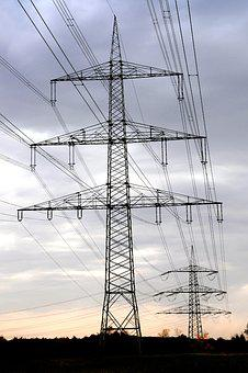 Current, Electricity Supplier, Giant, Evening Light