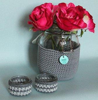 Hooks, Handmade, Cotton, Decoration, Flowers, Candles