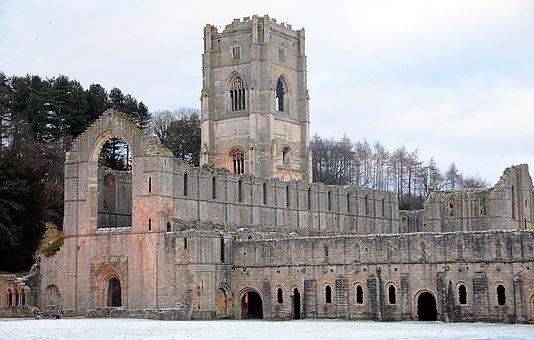Fountains, Abbey, Cistercian, Monastery Yorkshire