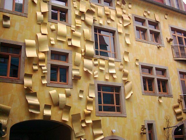 Facade, Facade Art, Art, Architecture, Gold