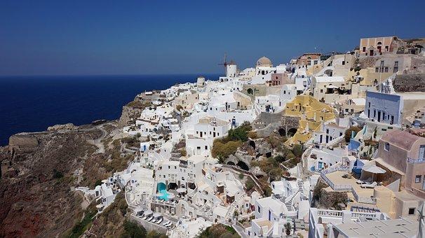 Greece, Sea, Beach, Santorini, View, Seascape, Will