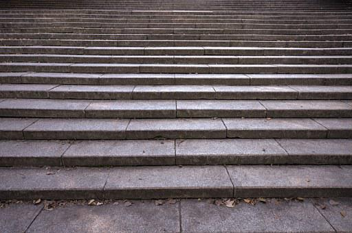 Stairs, Empty, Grey, Concrete, Emptiness, Climb, Nobody