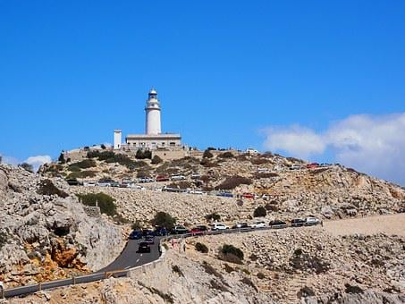 Lighthouse, Cap Formentor, Mallorca, Northernmost Point