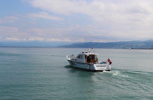 Ship, Motor Ship, Seepolizei, Canton Police Thurgau