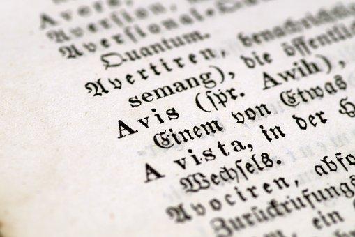 Message, Advice, Old Letter, German, Latin, Blackletter